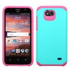 ZTE Maven / Overture 2 / Fanfare Teal Green/Hot Pink Astronoot Case