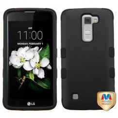 LG K7 Rubberized Black/Black Hybrid Case
