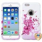 Apple iPhone 6/6s Spring Flowers/Solid White Hybrid Case