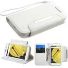 Motorola Moto E 2nd Gen White Wallet