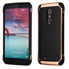ZTE Grand X Max 2 Black Lychee Grain(Rose Gold Plating)/Black Astronoot Case