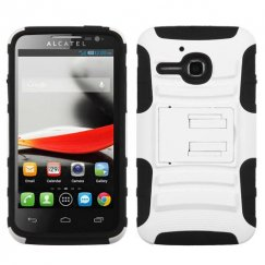 Alcatel One Touch Evolve White/Black Advanced Armor Stand Case