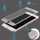 Apple iPhone 6/6s 3D Curved Edge Titanium Alloy Tempered Glass Screen Protector/Silver