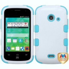 ZTE Prelude 2 / Zinger Natural Ivory White/Tropical Teal Hybrid Case