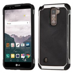 LG LG G Stylo 2 Plus Black Dots Silver Plating/Black Astronoot Case