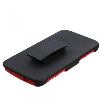 ZTE Axon Pro Black/Red Advanced Armor Stand Protector Cover (With Black Holster)