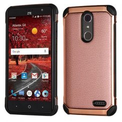 ZTE Grand X 4 Rose Gold Lychee Grain(Rose Gold Plating)/Black Astronoot Case