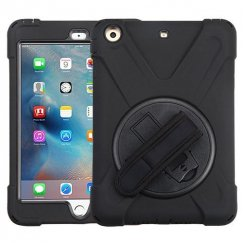 AppleiPad Mini 3rd Gen Black/Black Rotatable Stand Case (with Wristband)