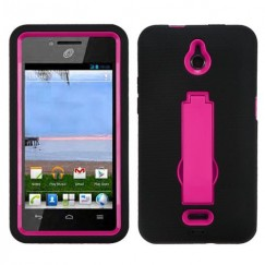 Huawei Valiant / Ascend Plus Hot Pink/Black Symbiosis Stand Case