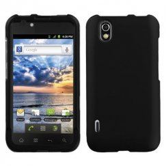 LG Marquee Black Case - Rubberized