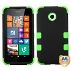 Nokia Lumia 635 Rubberized Black/Electric Green Hybrid Phone Protector Cover