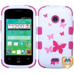 ZTE Prelude 2 / Zinger Butterfly Dancing/Hot Pink Hybrid Case