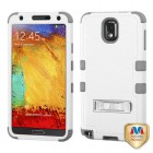 Samsung Galaxy Note 3 Natural Cream White/Iron Gray Hybrid Case with Stand