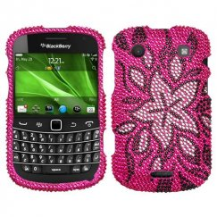 Blackberry Bold 9930 Tasteful Flowers Diamante Case