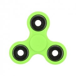 Green Glow-in-the-Dark Circles Triangle Spinner