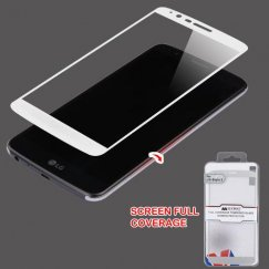 LG G Stylo 3 Full Coverage Tempered Glass Screen Protector/Silver