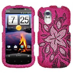 HTC Amaze 4G Tasteful Flowers Diamante Case