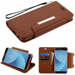 Samsung Galaxy J7 Brown Wallet -WP