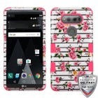 LG V20 Pink Fresh Roses/Electric Pink Hybrid Case