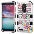 ZTE Grand X Max 2 Pink Fresh Roses/Black Hybrid Case