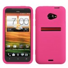 HTC EVO 4G LTE Solid Skin Cover (Hot Pink)