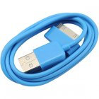 Apple 30 Pin iPhone/ iPad USB Color Series Data Cable, Light Blue