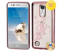 Rose Gold Glassy Spring Flowers SPOTS Electroplated Premium Candy Skin Cover