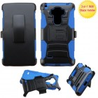 LG G Vista 2 Black/ Blue Advanced Armor Stand Protector Cover (With Black Holster)