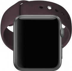 Apple Watch Series 1 38mm Smartwatch - Gray with Chocolate Brown Band