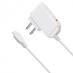 White Premium Travel Charger with IC chips