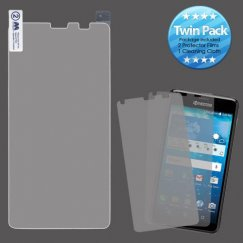 Kyocera Hydro Reach / Hydro View Screen Protector Twin Pack