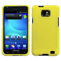 Samsung Galaxy S2 Yellow Case - Rubberized