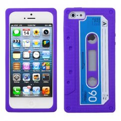 Apple iPhone 5c Electric Purple Retro Cassette Skin Cover