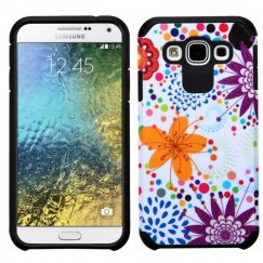 Samsung Galaxy E5 Flower Bud/Bubble/Black Advanced Armor Case