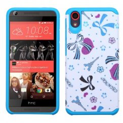 HTC Desire 626 Eiffel Towers/Ribbon/Blue Advanced Armor Case