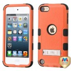 Apple iPod Touch (6th Generation) Natural Orange/Black Hybrid Case with Stand