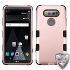 LG V20 Rose Gold/Black Hybrid Case