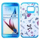Samsung Galaxy S7 Eiffel Towers/Ribbon/Blue Advanced Armor Case