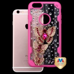 Apple iPhone 6/6s Plus Family Butterflies Crystal 3D Diamante Case