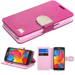 Samsung Galaxy Avant Hot pink Glittering Wallet with Diamante Belt