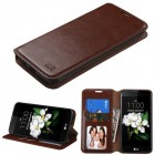 LG K7 Brown Wallet with Tray