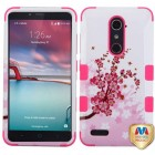ZTE Grand X Max 2 Spring Flowers/Electric Pink Hybrid Case