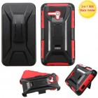 Alcatel One Touch Fierce XL Black/Red Advanced Armor Stand Protector Cover (With Black Holster)