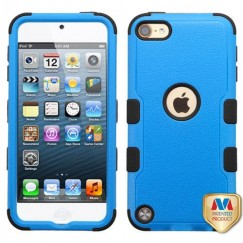 Apple iPod Touch (6th Generation) Natural Dark Blue/Black Hybrid Case