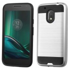 Motorola Moto G4 Play Silver/Black Brushed Hybrid Case