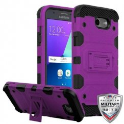 Samsung Galaxy J3 Purple/Black Storm Tank Hybrid Case Military Grade