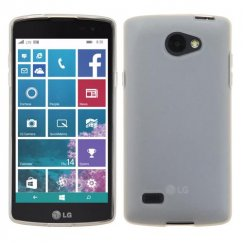 LG Lancet Semi Transparent White Candy Skin Cover - Rubberized