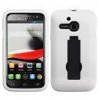Alcatel One Touch Evolve Black/White Symbiosis Stand Protector Cover