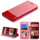 HTC Desire 626 Pink/Red wallet with Card Slot