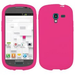 Samsung Galaxy Exhibit Solid Skin Cover - Hot Pink